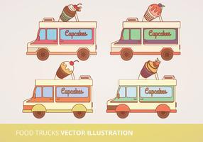 Food Trucks Vector Illustration