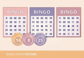 Bingo Cards Vector Illustration