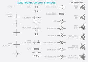 Electronic Circuit Symbol Vectors