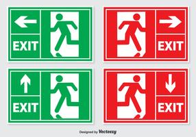 Emergency Exit Sign Set
