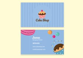 Blue Bake Shop Business Card Vector