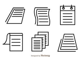 Paper Sheet Icon Vectors