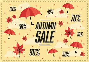 Free Autumn Sale Vector Background