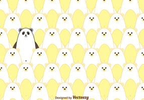 Polar Bear And Panda Pattern Vector