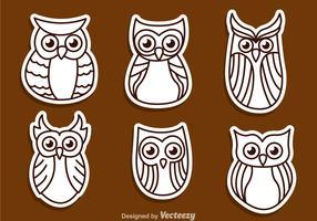 Owl Outline Vectors