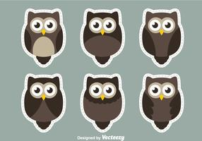 Owl Sticker Vectors