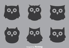 Gray Owl Vectors