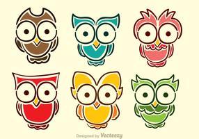 Cartoon Owl Vectors