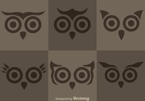 Owl Face Vectors