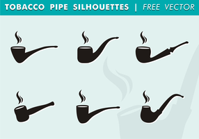 Tobacco Pipe Silhouettes Free Vector