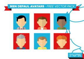 Men Default Avatar Free Vector Pack
