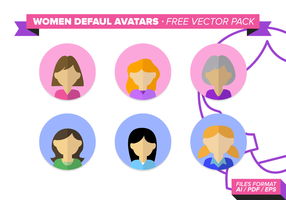 Women Default Avatar Free Vector Pack