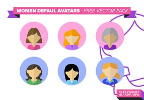 Women Default Avatar Free Vector Pack