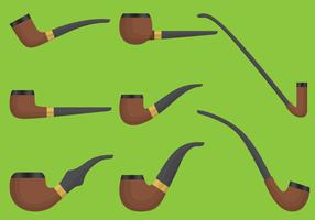 Wooden Tobacoo Pipe Vectors