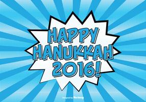 Comic Style Happy Hanukkah Illustration