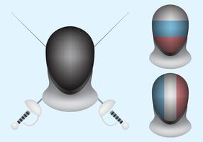 Fencing Mask Vectors
