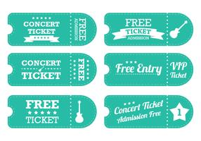 Vintage Blue Ticket Vector