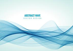 Blue line waves background vector