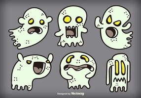 Cartoon ghosts