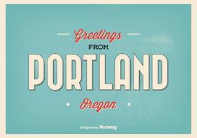 Portland Oregon Greeting Illustration