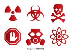 Vector Toxic Red Icons