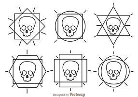 Skull Outline Vector Icons
