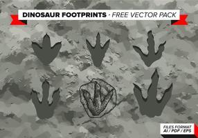 Huellas de dinosaurios paquete de vectores gratis