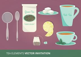 Tea Elements Vector Illustration