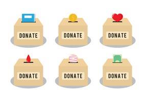 Donate Box Vectors