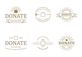 Donate Badge Vectors