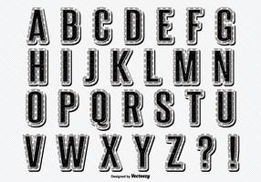 Vintage Retro Style Alphabet Set