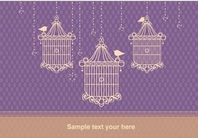 Background with Bird Cage Vintage Style