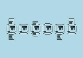 Fax Icons Vector Set