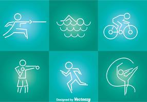 Sport Tin Line Icons