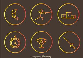 Fencing Vector Icons