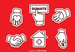 Donate Outline Vector Icons