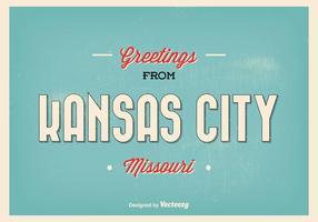 Kansas City Missouri Greeting Illustration
