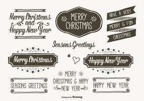 Hand Drawn Style Christmas Labels
