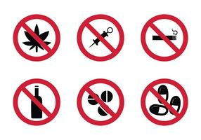 Free No Drugs Vector Icon