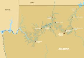Grand Canyon Map Vector