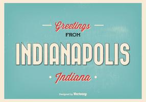 Indianapolis Retro Greeting Illustration