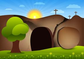 Empty tomb vector
