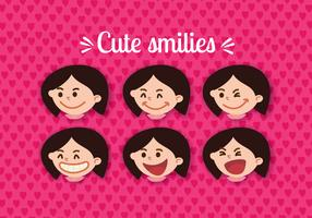 Women Smiling Face Vectors