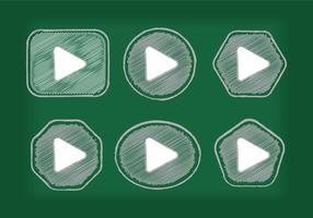 Reproducir Botón Icono Vectores