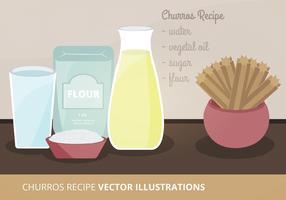 Churros Recipe Vector Illustration