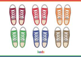 Mens keds top view