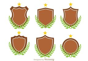 Shield And Leaf Vectors
