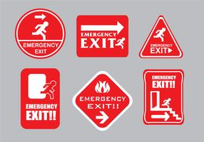 Emergency Escape Sign Vectors