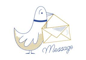 Free Message Pigeon Vector
