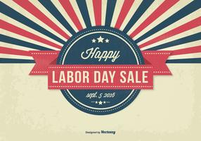 Retro Style Labor Day Sale Illustration